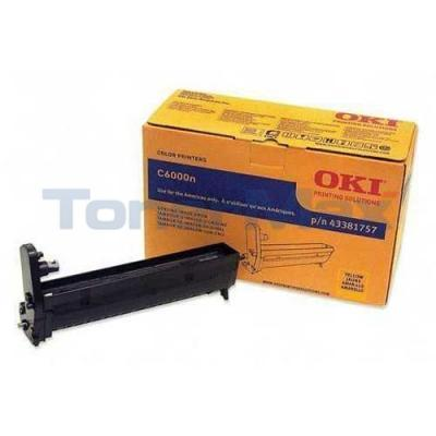 OKIDATA C6000 IMAGE DRUM YELLOW